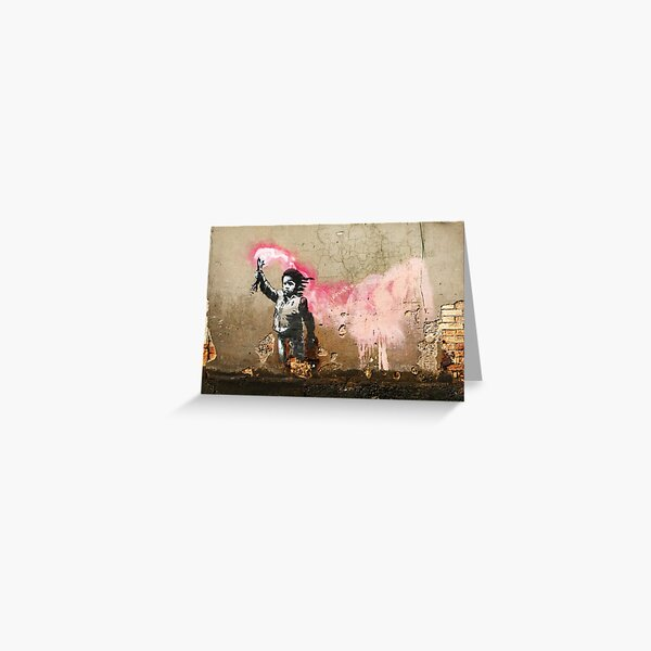 Banksy Migrant Child Mural Venice Greeting Card