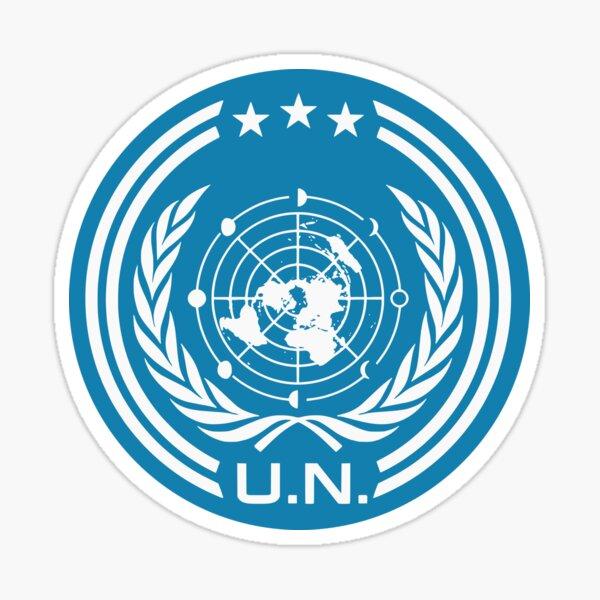 The Expanse Earth UNN Logo Sign  Sticker