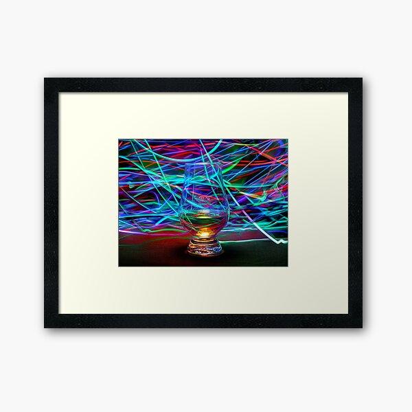Whisky Colour Blast Framed Art Print