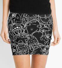 Creepies Collage Mini Skirt