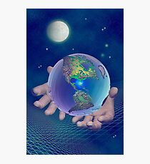 Hands holding the world Photographic Print