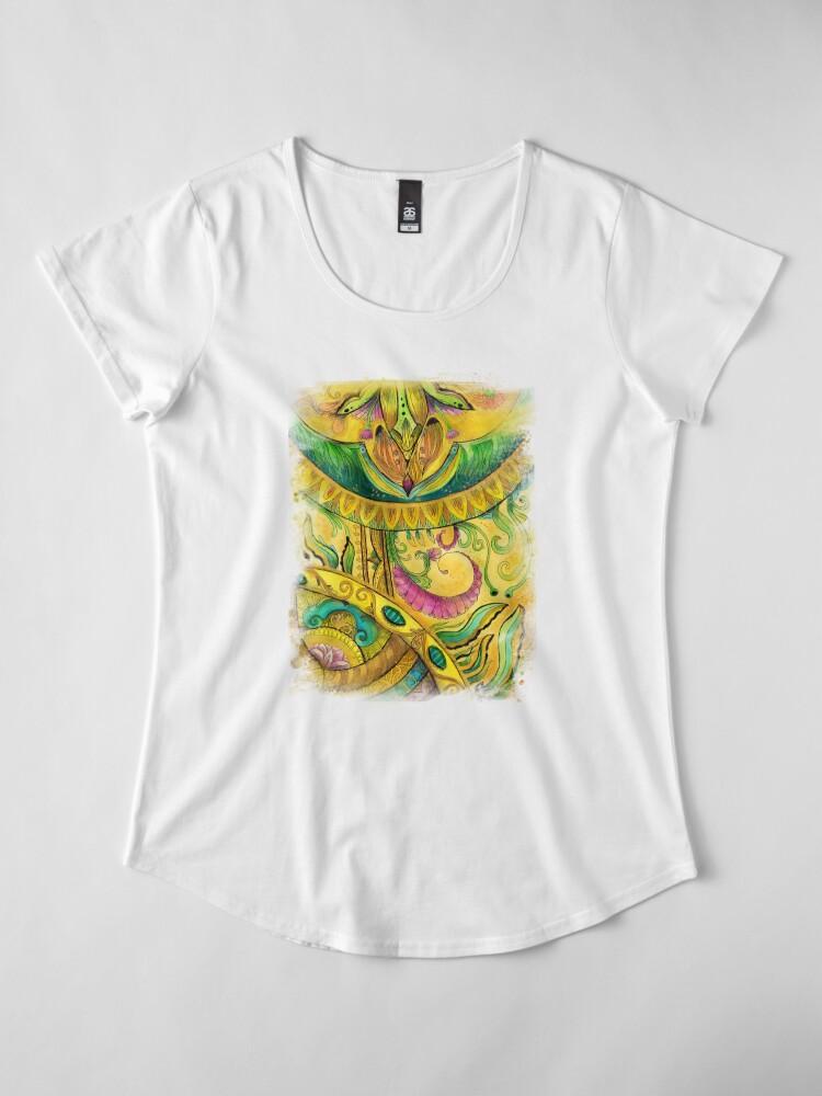 Alternate view of Baroque Organic Premium Scoop T-Shirt