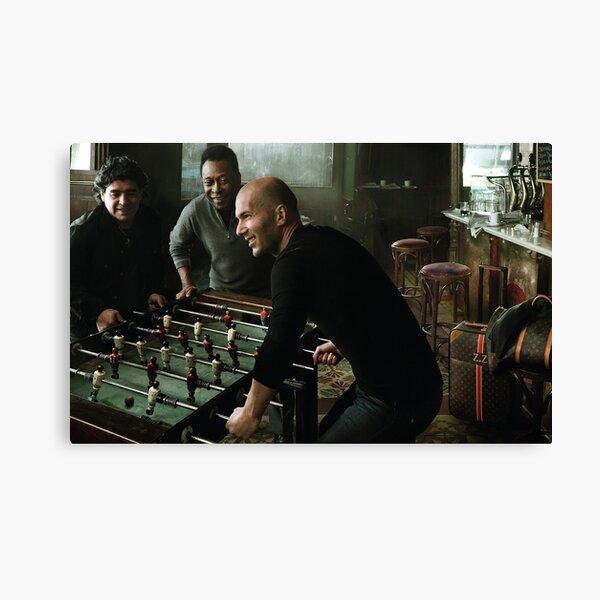 Zinedine Zidane, Pele and Maradona Canvas Print