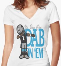 DAB ON'EM Women's Fitted V-Neck T-Shirt