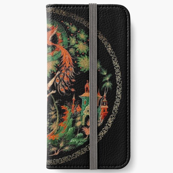 Plate, Painting, Decorative Plate, Russian Fairy Tales iPhone Wallet