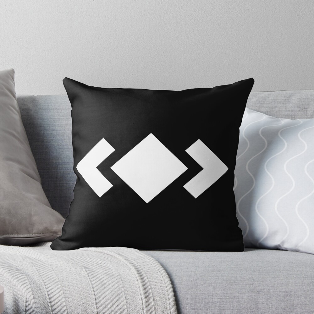 Madeon Adventure Logo - White Throw Pillow