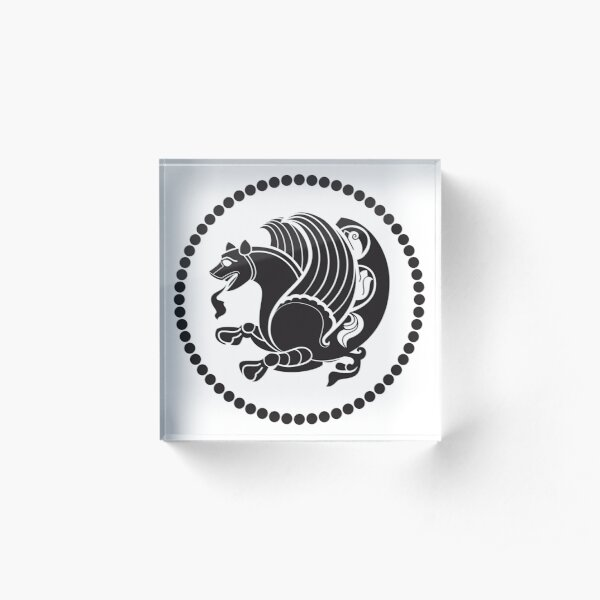 Simurgh as the royal emblem of the Sassanian Empire Acrylic Block