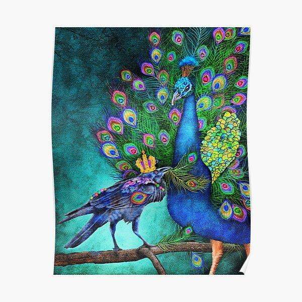 Ritual - Raven and Peacock Poster