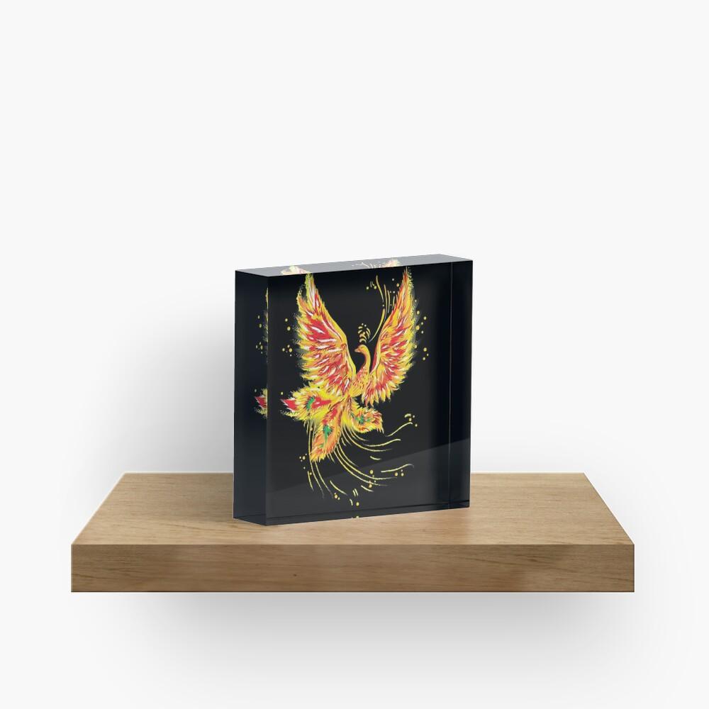 """Русская народная сказка """"Жар-птица"""" (""""Иван - царевич и серый волк"""") (Russian folktale """"The Firebird"""") Acrylic Block"""