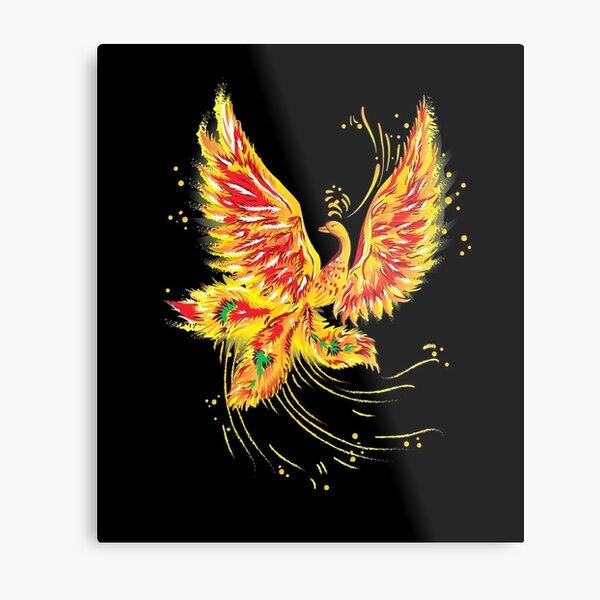 """Русская народная сказка """"Жар-птица"""" (""""Иван - царевич и серый волк"""") (Russian folktale """"The Firebird"""") Metal Print"""