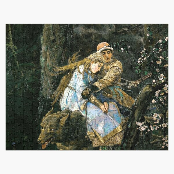 Ivan tsarevich riding the grey wolf Jigsaw Puzzle