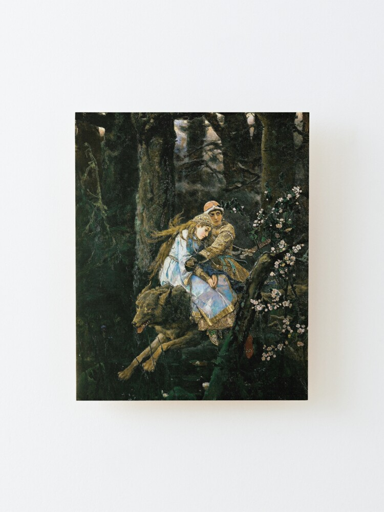 Alternate view of Ivan tsarevich riding the grey wolf Mounted Print