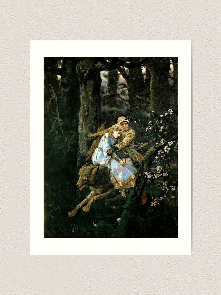 Alternate view of Ivan tsarevich riding the grey wolf Art Print