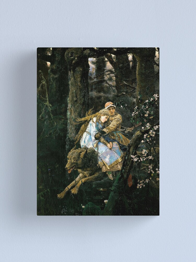Alternate view of Ivan tsarevich riding the grey wolf Canvas Print