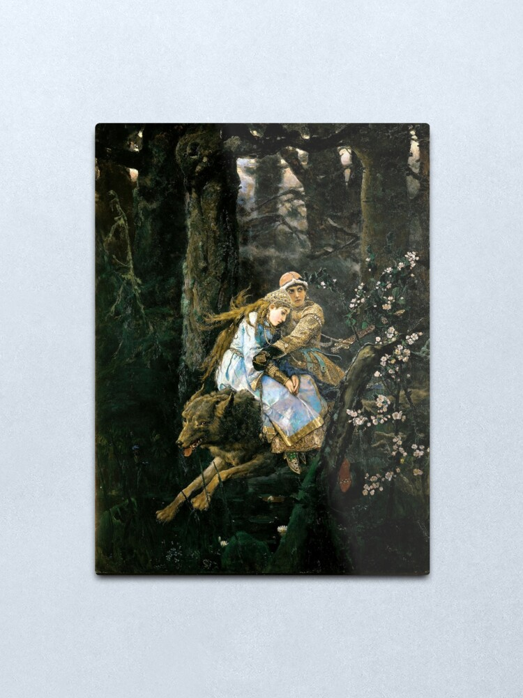 Alternate view of Ivan tsarevich riding the grey wolf Metal Print