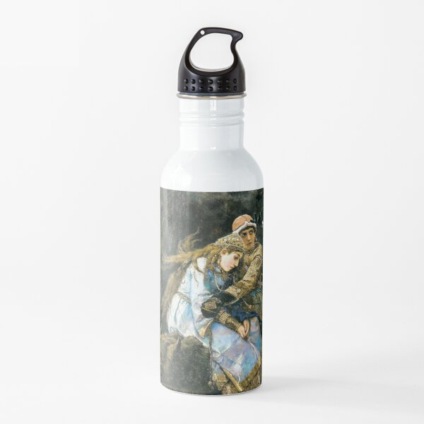 Ivan tsarevich riding the grey wolf Water Bottle