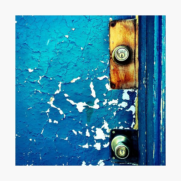 Crackle Open the Door Photographic Print