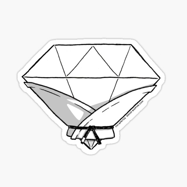 Pin-Sprites - Diamond in a Gi - Black and White/ No-Face Sticker