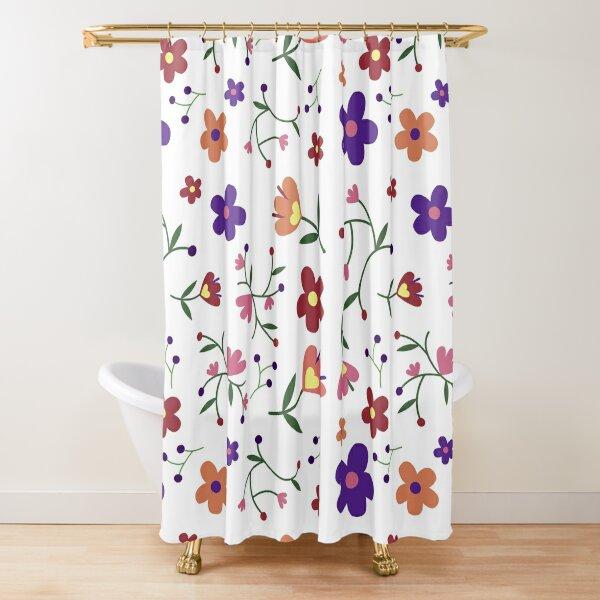 Blume gedruckt Duschvorhang