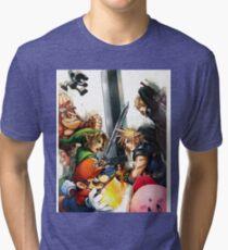 Smash Bros Cloud Promo Art Full Graphic Tee Tri-blend T-Shirt