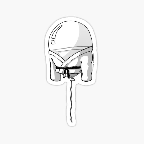 Pin-Sprites - Balloon in a Gi - Black and White/ No-Face Sticker