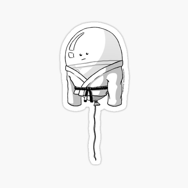 Pin-Sprites - Balloon in a Gi - Black and White/Face Sticker