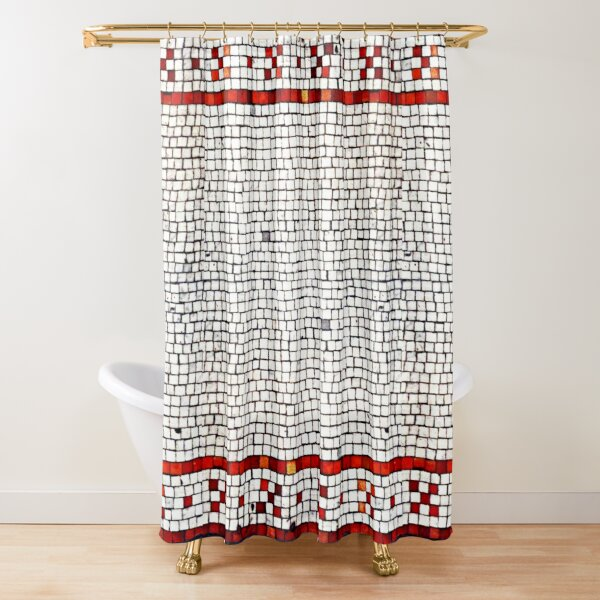 Classic Roman Red Tile Border Shower Curtain