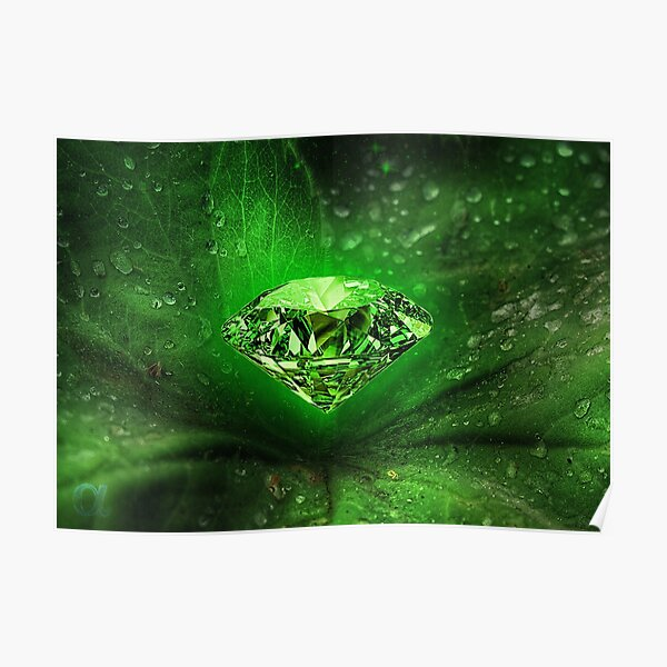 Emerald Gemstone Frequency Poster
