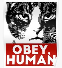 OBEY, HUMAN Poster