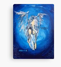 """""""Now You Know"""" Blue Angel Canvas Print"""