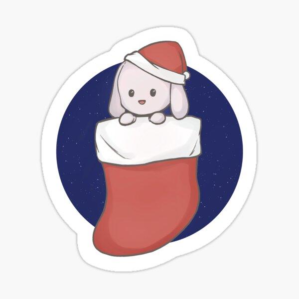 Christmas bunny Sticker