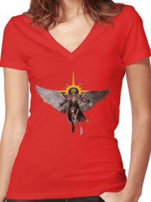 Warhammer 40k Living Saint Vector Women's Fitted V-Neck T-Shirt
