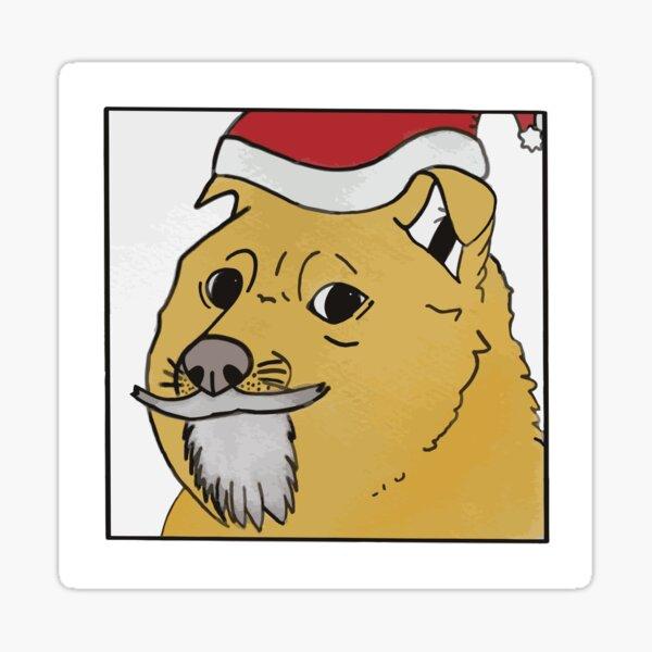 Santa doge Sticker