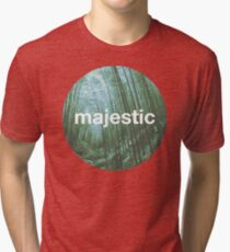 Unofficial Majestic Casual design bamboo Tri-blend T-Shirt
