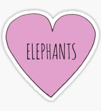 Elephant Love Sticker
