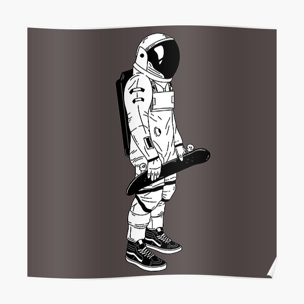 Skating Astronaut in Vans Poster