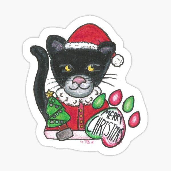 Santa panther Sticker
