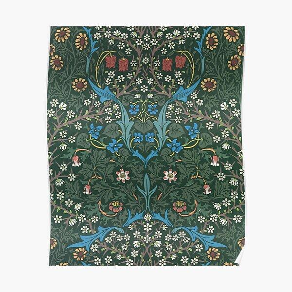 William Morris Blackthorn Pattern, 1892 Poster