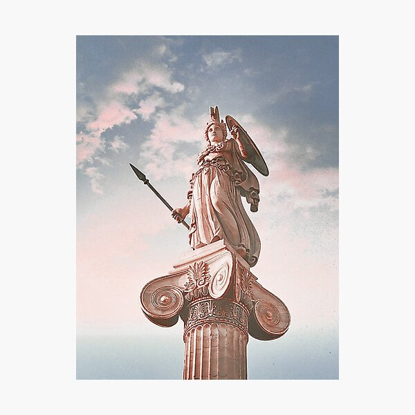 Athena Statue at the Academy of Athens Photographic Print