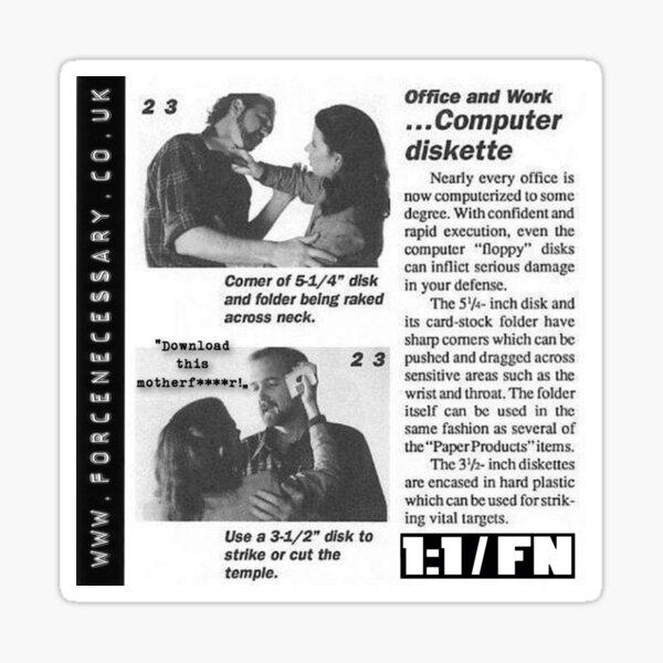 Retro Self Defence For Post - Millennials Sticker