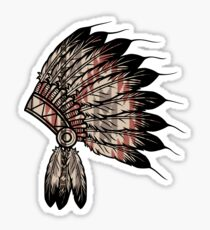 Native American Headdress Sticker