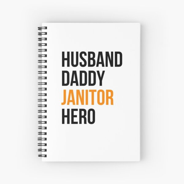 janitor gifts Spiral Notebook