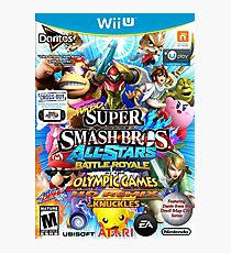 Turbo Super Smash Bros All-Stars Battle Royale at the Olympic Games HD Remix & Knuckles Photographic Print