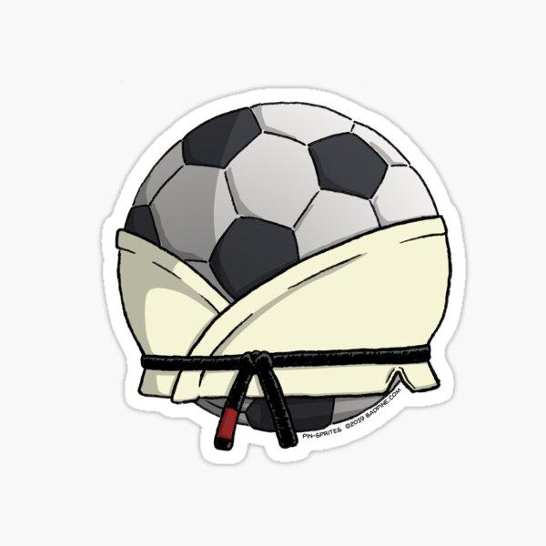 Pin-Sprites - Soccer Ball in a Gi - Color/No-Face Sticker