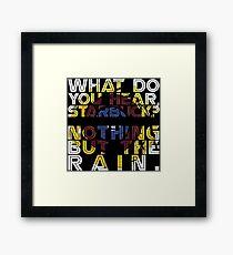 Nothing but the rain [mandala] Framed Print
