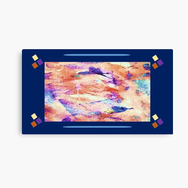 Flying West Navy and Orange Canvas Print