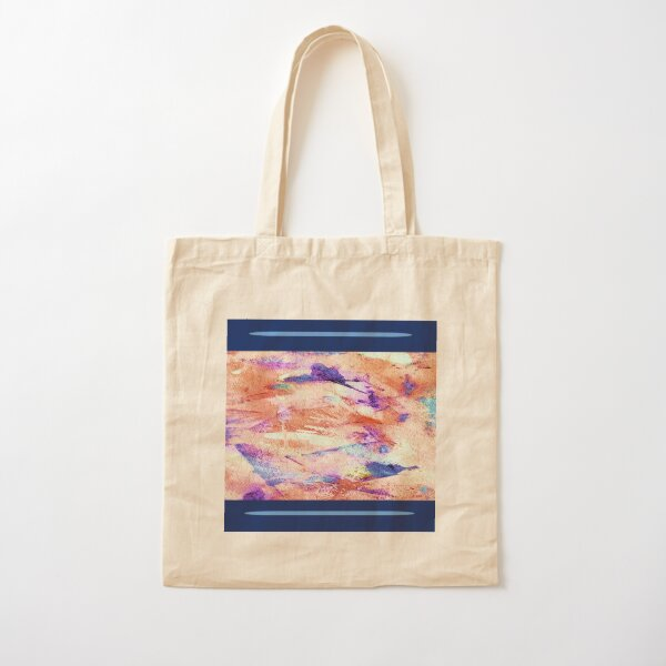 Flying West Navy and Orange Cotton Tote Bag