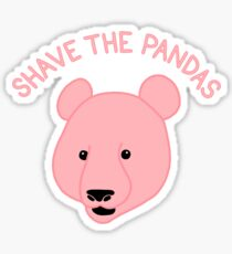 Shave the Pandas Sticker