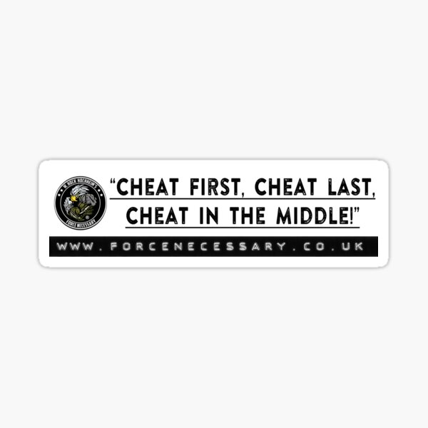 """Cheat!"" Sticker"