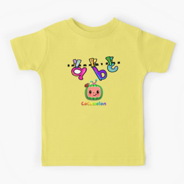 Máscara Cocomelon Nursery Rhymes Kids Songs Stickers Camiseta para niños